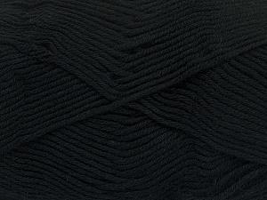 Fiber Content 50% Cotton, 50% Bamboo, Brand ICE, Black, Yarn Thickness 2 Fine  Sport, Baby, fnt2-41437
