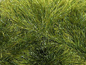 Fiber Content 75% Polyester, 25% Metallic Lurex, Brand ICE, Green, Yarn Thickness 5 Bulky  Chunky, Craft, Rug, fnt2-42260