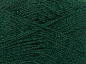Περιεχόμενο ίνας 100% Παρθένο μαλλί, Brand Ice Yarns, Dark Green, Yarn Thickness 3 Light  DK, Light, Worsted, fnt2-42312