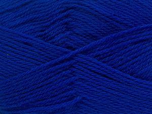 Περιεχόμενο ίνας 100% Παρθένο μαλλί, Brand Ice Yarns, Bright Blue, Yarn Thickness 3 Light  DK, Light, Worsted, fnt2-42316