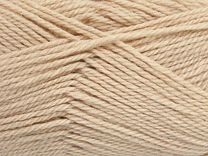 Fiber Content 50% Acrylic, 30% Wool, 20% Polyamide, Brand ICE, Beige, Yarn Thickness 2 Fine  Sport, Baby, fnt2-42413