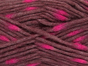 Make a knot on the spots part of the yarn while knitting to give a pompom look. Fiber Content 82% Acrylic, 18% Polyamide, Rose Brown, Pink, Brand ICE, Yarn Thickness 5 Bulky  Chunky, Craft, Rug, fnt2-42692