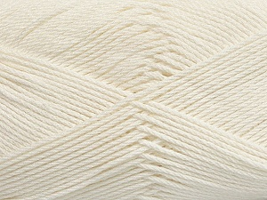 Fiber Content 50% Viscose, 50% Bamboo, Light Cream, Brand ICE, Yarn Thickness 2 Fine  Sport, Baby, fnt2-43033