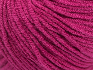 Fiber Content 50% Acrylic, 50% Cotton, Brand ICE, Dark Fuchsia, Yarn Thickness 3 Light  DK, Light, Worsted, fnt2-43069