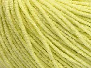 Fiber Content 50% Acrylic, 50% Cotton, Lemon Yellow, Brand ICE, Yarn Thickness 3 Light  DK, Light, Worsted, fnt2-43836