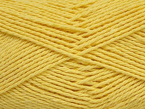 Fiber Content 100% Cotton, Light Yellow, Brand ICE, Yarn Thickness 3 Light  DK, Light, Worsted, fnt2-44329