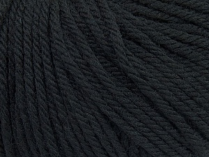 SUPERWASH WOOL BULKY is a bulky weight 100% superwash wool yarn. Perfect stitch definition, and a soft-but-sturdy finished fabric. Projects knit and crocheted in SUPERWASH WOOL BULKY are machine washable! Lay flat to dry. Fiber Content 100% Superwash Wool, Brand ICE, Black, Yarn Thickness 5 Bulky  Chunky, Craft, Rug, fnt2-44635