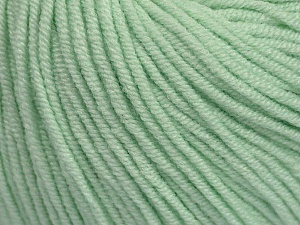 Fiber Content 50% Acrylic, 50% Cotton, Mint Green, Brand ICE, Yarn Thickness 3 Light  DK, Light, Worsted, fnt2-44637