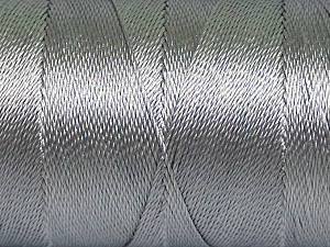 Fiber Content 100% Polyester, Light Grey, Brand Ice Yarns, Yarn Thickness 0 Lace  Fingering Crochet Thread, fnt2-44824