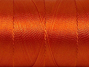 Fiber Content 100% Polyester, Orange, Brand ICE, Yarn Thickness 0 Lace  Fingering Crochet Thread, fnt2-44836
