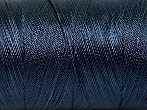 Fiber Content 100% Polyester, Navy, Brand ICE, Yarn Thickness 0 Lace  Fingering Crochet Thread, fnt2-44837