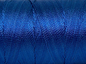 Fiber Content 100% Polyester, Brand Ice Yarns, Blue, Yarn Thickness 0 Lace  Fingering Crochet Thread, fnt2-44838