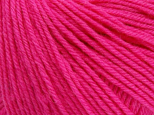 SUPERWASH WOOL is a DK weight 100% superwash wool yarn. Perfect stitch definition, and a soft-but-sturdy finished fabric. Projects knit and crocheted in SUPERWASH WOOL are machine washable! Lay flat to dry. Fiber Content 100% Superwash Wool, Pink, Brand ICE, Yarn Thickness 3 Light  DK, Light, Worsted, fnt2-45043
