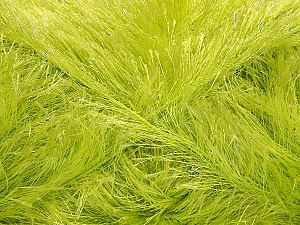 Fiber Content 80% Polyester, 20% Lurex, Light Green, Brand ICE, Yarn Thickness 5 Bulky  Chunky, Craft, Rug, fnt2-46559