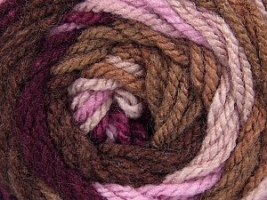 Fiber Content 100% Acrylic, Pink, Maroon, Brand ICE, Camel, Brown Shades, Yarn Thickness 4 Medium  Worsted, Afghan, Aran, fnt2-46964