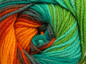 Fiber Content 100% Acrylic, Yellow, Turquoise, Orange, Brand ICE, Grey, Green, Yarn Thickness 4 Medium  Worsted, Afghan, Aran, fnt2-46970