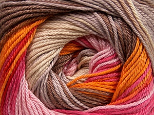 Fiber Content 100% Mercerised Cotton, Pink Shades, Orange, Brand ICE, Cream, Camel, Beige, Yarn Thickness 2 Fine  Sport, Baby, fnt2-47018