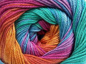 Fiber Content 100% Mercerised Cotton, Orange, Mint Green, Lilac, Brand ICE, Fuchsia, Copper, Blue, Yarn Thickness 2 Fine  Sport, Baby, fnt2-47019