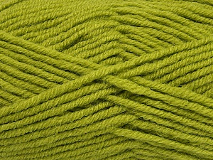 Fiber Content 50% Acrylic, 25% Wool, 25% Alpaca, Light Green, Brand ICE, Yarn Thickness 5 Bulky  Chunky, Craft, Rug, fnt2-47139