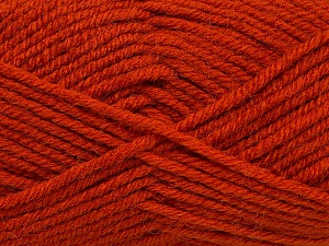 Fiber Content 50% Acrylic, 25% Wool, 25% Alpaca, Brand ICE, Dark Orange, Yarn Thickness 5 Bulky  Chunky, Craft, Rug, fnt2-47142