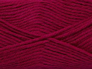 Fiber Content 50% Acrylic, 25% Wool, 25% Alpaca, Brand ICE, Fuchsia, Yarn Thickness 5 Bulky  Chunky, Craft, Rug, fnt2-47147