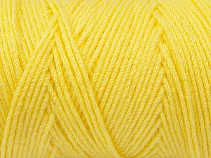 Items made with this yarn are machine washable & dryable. Fiber Content 100% Dralon Acrylic, Yellow, Brand ICE, Yarn Thickness 4 Medium  Worsted, Afghan, Aran, fnt2-47182