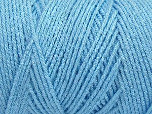 Items made with this yarn are machine washable & dryable. Fiber Content 100% Dralon Acrylic, Light Blue, Brand ICE, Yarn Thickness 4 Medium  Worsted, Afghan, Aran, fnt2-47185