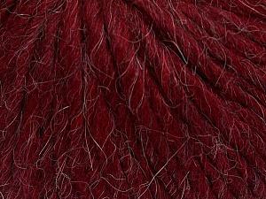 Fiber Content 50% Merino Wool, 25% Acrylic, 25% Alpaca, Brand ICE, Burgundy, Yarn Thickness 6 SuperBulky  Bulky, Roving, fnt2-48102