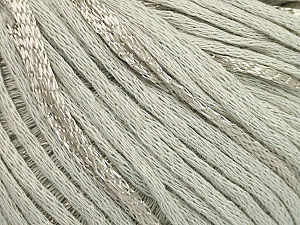 Fiber Content 79% Cotton, 21% Viscose, Light Grey, Brand ICE, Yarn Thickness 3 Light  DK, Light, Worsted, fnt2-48339