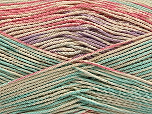 Fiber Content 100% Mercerised Cotton, Salmon, Mint Green, Lilac, Brand ICE, Beige, Yarn Thickness 2 Fine  Sport, Baby, fnt2-48625