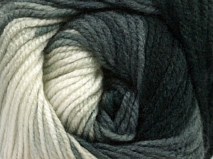 Fiber Content 100% Acrylic, White, Brand ICE, Grey, Black, Yarn Thickness 4 Medium  Worsted, Afghan, Aran, fnt2-48629