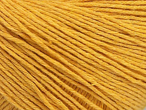 Fiber Content 100% Cotton, Brand Ice Yarns, Dark Yellow, Yarn Thickness 1 SuperFine  Sock, Fingering, Baby, fnt2-49122