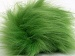 2 Faux Fur PomPoms Light Green