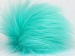 Mint Green 2 Faux Fur PomPoms