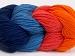 Art Color Cotton Salmon Orange Navy Jeans Blue