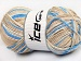 Natural Cotton Color Worsted Cream Blue Beige