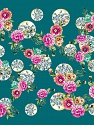 Fiber content: 100% Polyester. Size: 100cm x 100cm (40&ampx40&amp) Teal, Pink, Brand Ice Yarns, Green, acs-1090