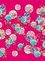 Fiber content: 100% Polyester. Size: 100cm x 100cm (40&ampx40&amp) Turquoise, Pink, Brand Ice Yarns, Gold, acs-1093