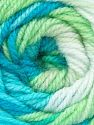 Fiber Content 100% Baby Acrylic, White, Brand Ice Yarns, Green, Blue Shades, Yarn Thickness 2 Fine  Sport, Baby, fnt2-50005