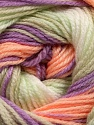 Fiber Content 100% Baby Acrylic, White, Lilac, Light Salmon, Light Green, Brand Ice Yarns, Yarn Thickness 2 Fine  Sport, Baby, fnt2-50007