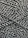 Fiber Content 100% Cotton, Brand ICE, Grey, Yarn Thickness 2 Fine  Sport, Baby, fnt2-50092