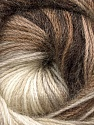 Fiber Content 60% Premium Acrylic, 20% Mohair, 20% Wool, Brand Ice Yarns, Cream, Brown Shades, Yarn Thickness 2 Fine  Sport, Baby, fnt2-50293