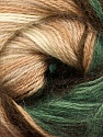 Fiber Content 60% Premium Acrylic, 20% Wool, 20% Mohair, Brand Ice Yarns, Green, Cream, Brown Shades, Yarn Thickness 2 Fine  Sport, Baby, fnt2-50296