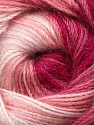 Fiber Content 60% Premium Acrylic, 20% Wool, 20% Mohair, White, Pink Shades, Brand Ice Yarns, Yarn Thickness 2 Fine  Sport, Baby, fnt2-50301