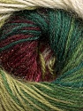 Fiber Content 57% Premium Acrylic, 3% Metallic Lurex, 20% Mohair, 20% Wool, White, Brand Ice Yarns, Green Shades, Burgundy, Yarn Thickness 2 Fine  Sport, Baby, fnt2-50322