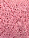 Fiber Content 70% Recycled Cotton, 30% Metallic Lurex, Light Pink, Brand Ice Yarns, Yarn Thickness 6 SuperBulky  Bulky, Roving, fnt2-50525