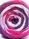 Fiber Content 100% Cotton, White, Purple, Lilac, Brand ICE, Fuchsia, Yarn Thickness 3 Light  DK, Light, Worsted, fnt2-50561