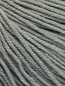 Fiber Content 60% Cotton, 40% Acrylic, Brand ICE, Grey, Yarn Thickness 2 Fine  Sport, Baby, fnt2-51215