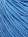 Fiber indhold 60% Bomuld, 40% Akryl, Light Blue, Brand Ice Yarns, Yarn Thickness 2 Fine  Sport, Baby, fnt2-51236