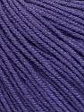 Fiber Content 60% Cotton, 40% Acrylic, Purple, Brand ICE, Yarn Thickness 2 Fine  Sport, Baby, fnt2-51240